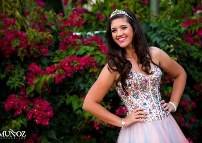 Happy young lady on her Quinceanera.