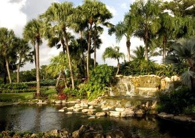 Lush landscaping at Deer Creek Golf Club