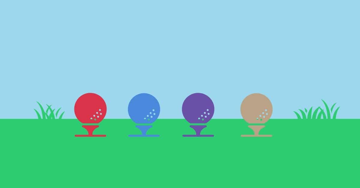 Golf ball choices