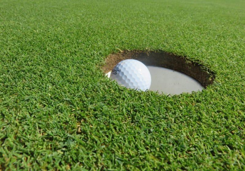 hole, golf ball
