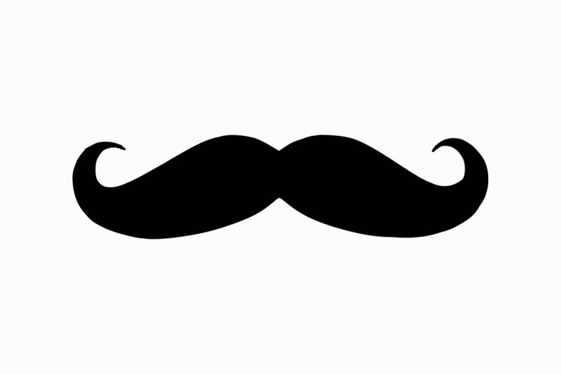 black mustache