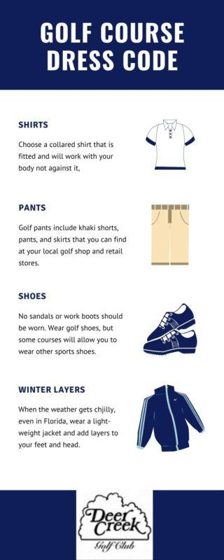 infographic on golf attire