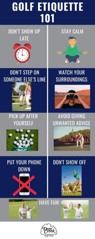 infographic on golf etiquette