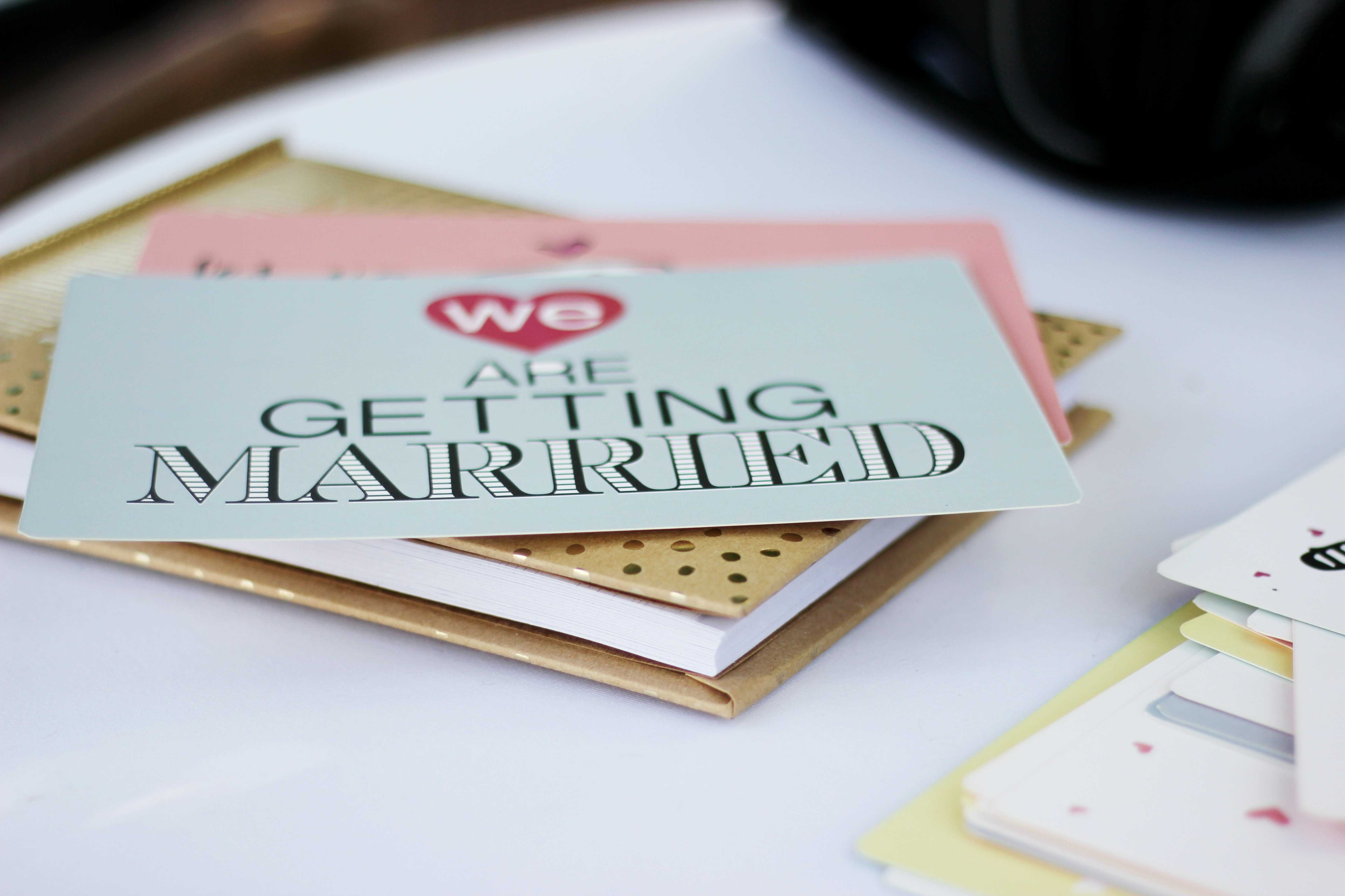 wedding planner that says we are getting married